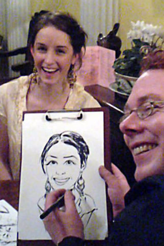 Caricaturists and silhouette artists