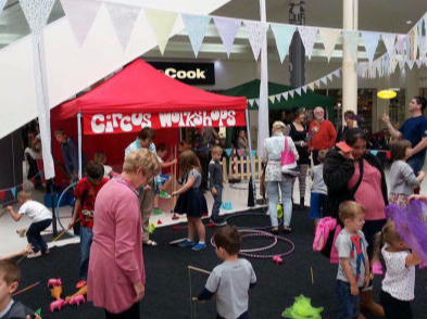 Circus Skills Workshops for Shopping Centres
