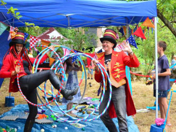 Circus skills workshops for fairs and festivals