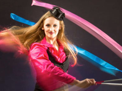 Circus skills workshops for weddings and anniversaries