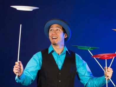 Circus skills workshops for parties