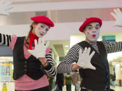 Mime and magic workshops